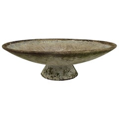 Mid-Century Modern Willy Guhl Extra Large Round Concrete Planter with Stand