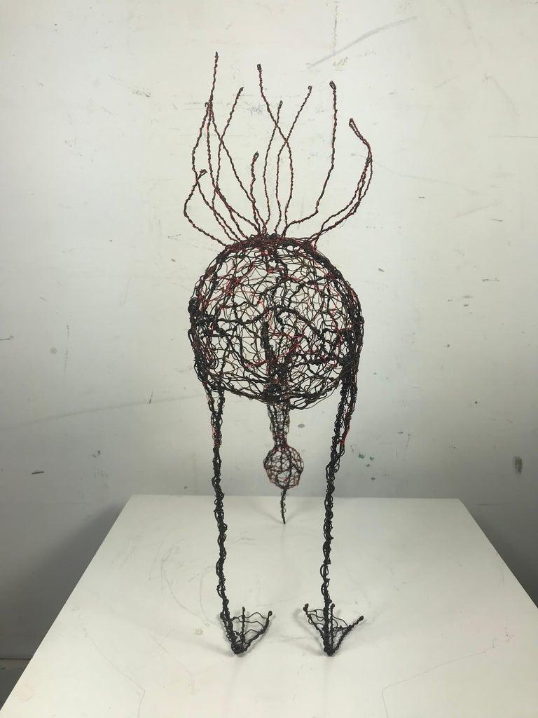 Hand-Crafted Mid-Century Modern Wire Sculpture