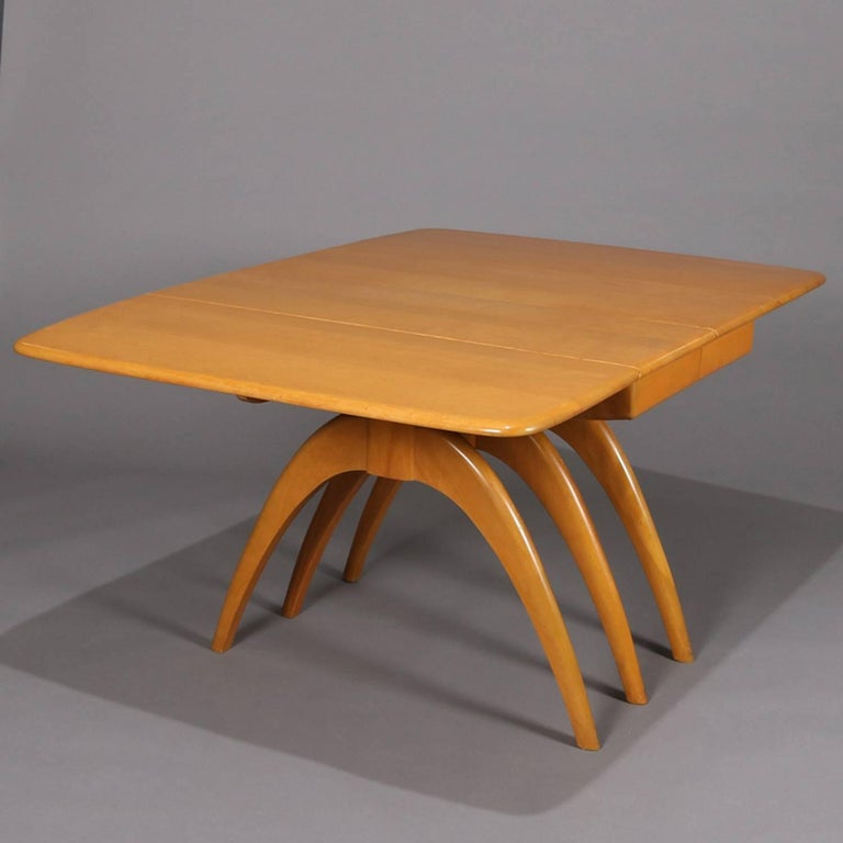 Mid Century Modern Wishbone Dining Table Set By Heywood