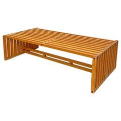 Mid-Century Modern Wood Coffee Table Mod. Ara by Vignelli for Driade, 1970s