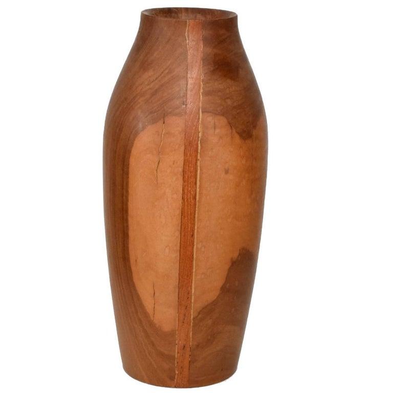 Mid Century Modern Wood Vase Sculptural Shape For Sale At 1stdibs