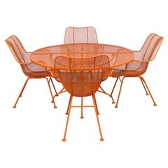 Mid-Century Modern Woodard Sculptura Table and 4 Chairs