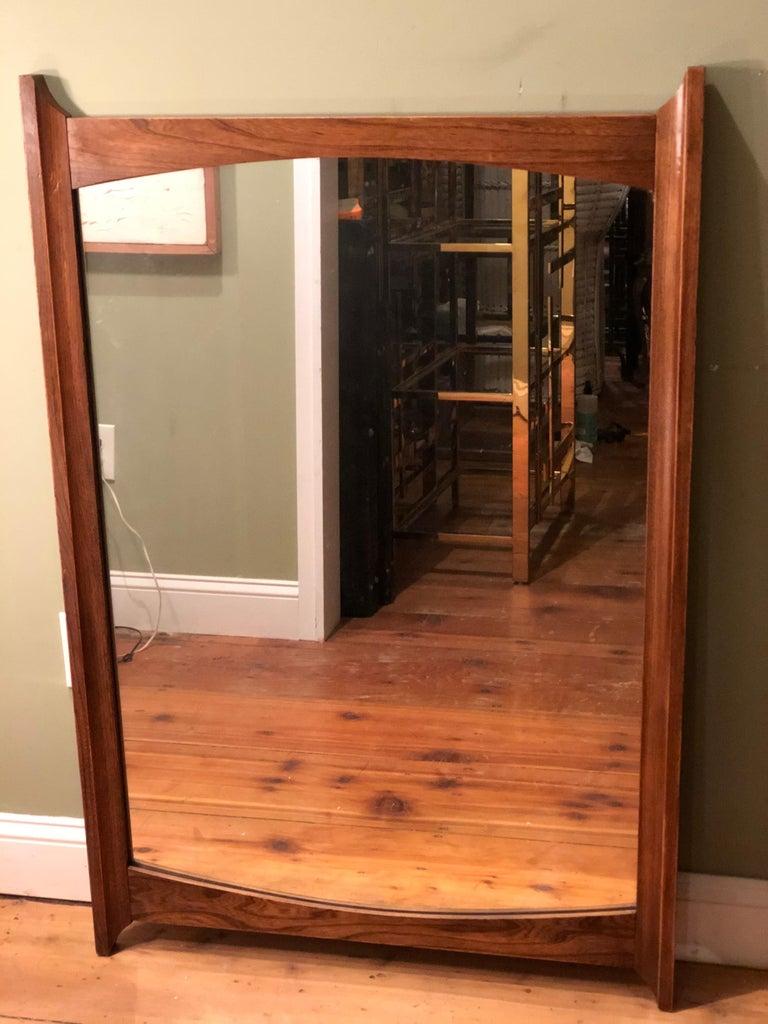 Mid-Century Modern Wooden Mirror For Sale 7