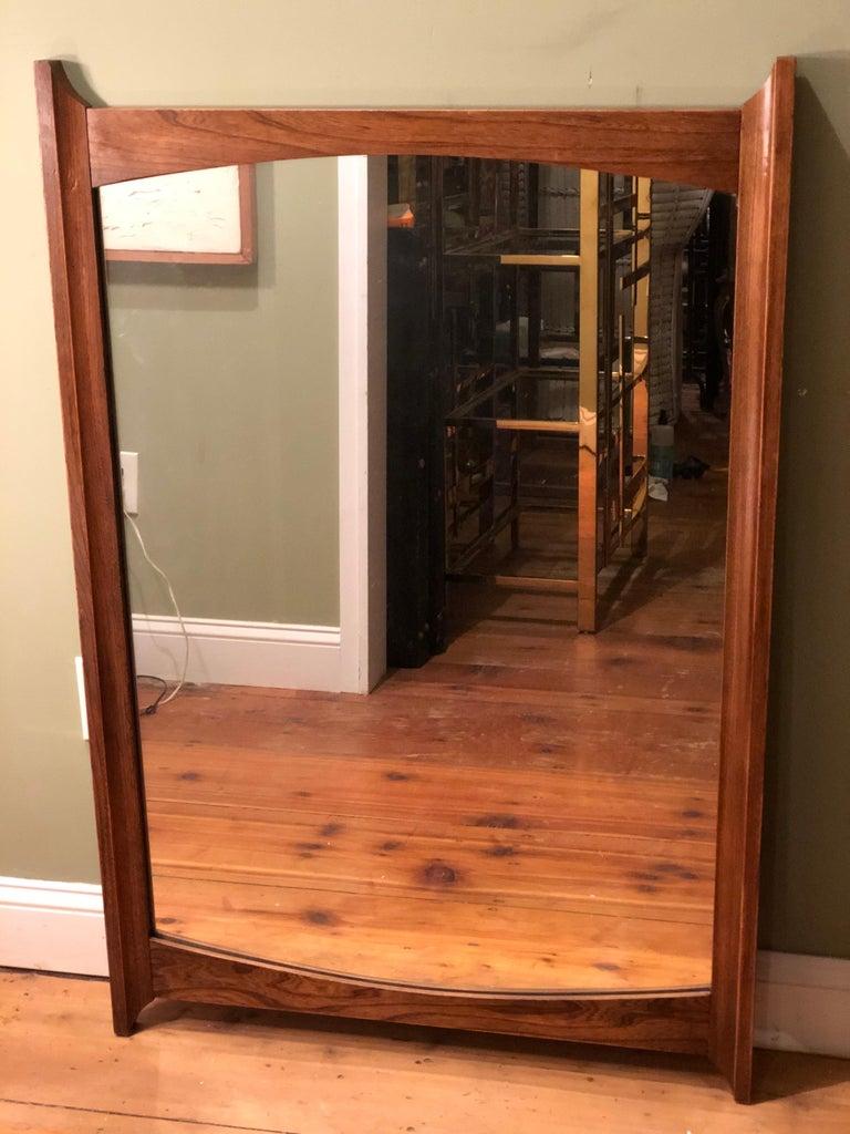 Mid-Century Modern Wooden Mirror For Sale 8