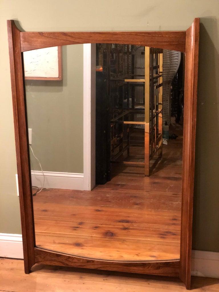 Mid-Century Modern Wooden Mirror For Sale 9