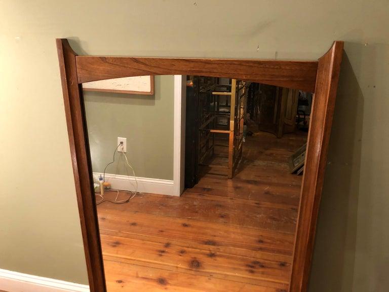 Mid-Century Modern Wooden Mirror For Sale 10