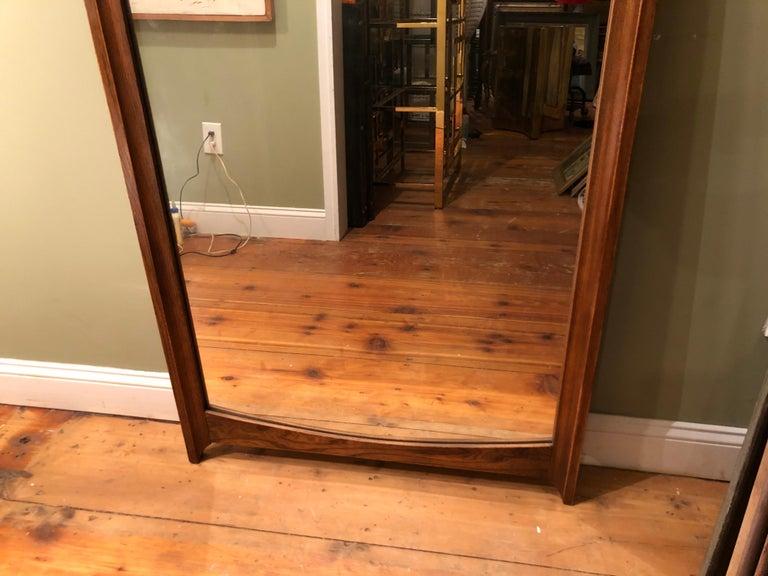 Mid-Century Modern Wooden Mirror For Sale 11