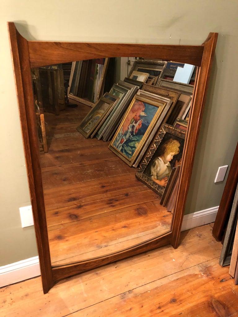 Mid-Century Modern Wooden Mirror For Sale 12