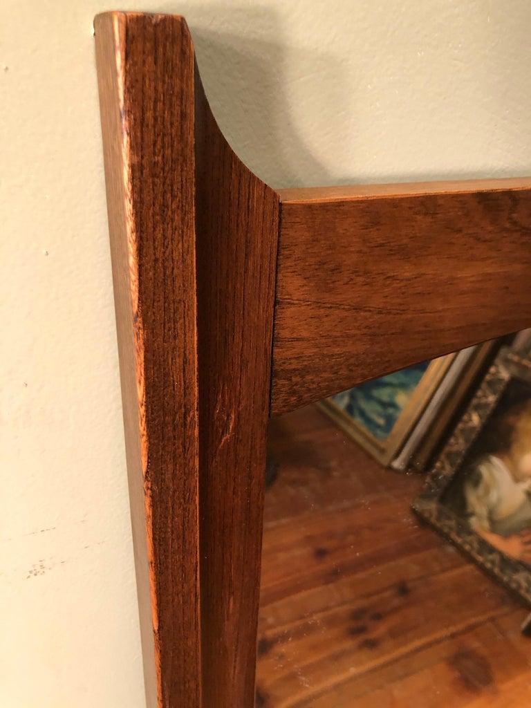Mid-Century Modern Wooden Mirror For Sale 13