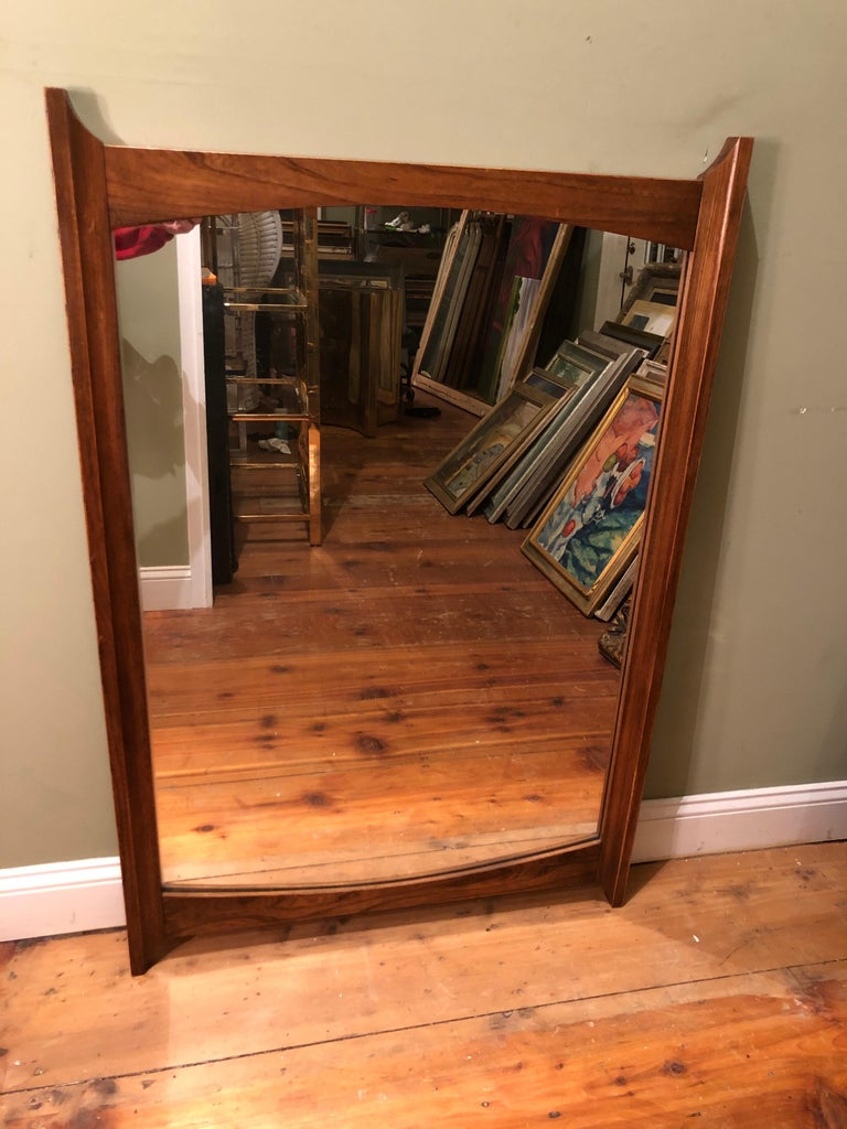 Late 20th Century Mid-Century Modern Wooden Mirror For Sale