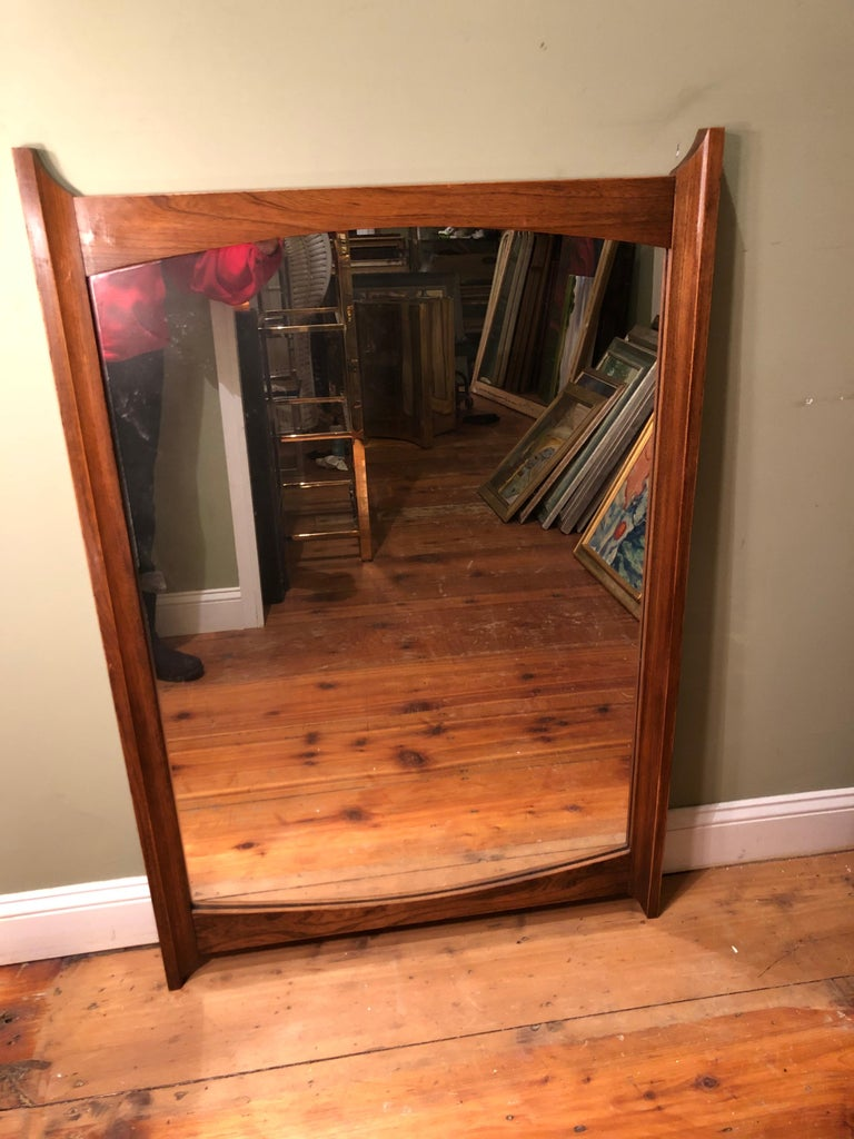 Mid-Century Modern Wooden Mirror For Sale 1