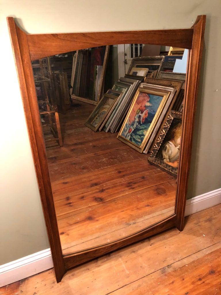 Mid-Century Modern Wooden Mirror For Sale 2