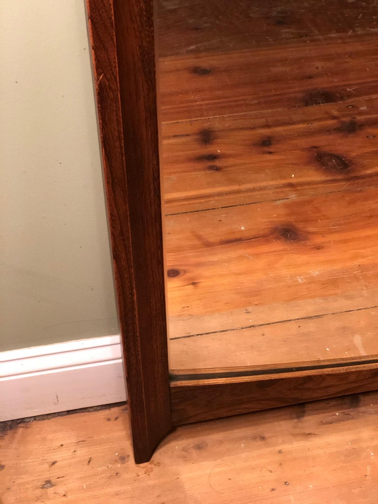 Mid-Century Modern Wooden Mirror For Sale 4