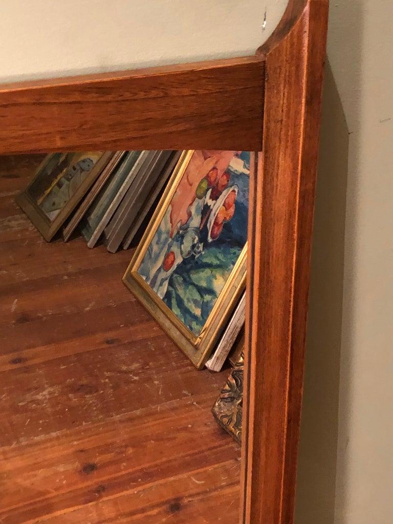 Mid-Century Modern Wooden Mirror For Sale 5