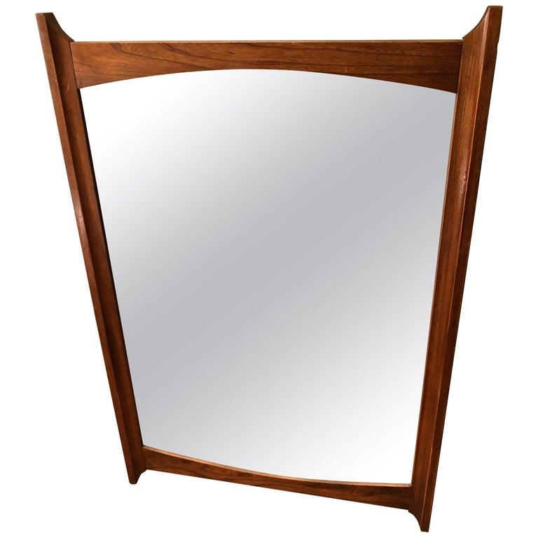 Mid-Century Modern Wooden Mirror For Sale