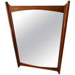 Mid-Century Modern Wooden Mirror