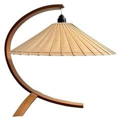 Mid-Century Modern Wooden Shade Table Lamp