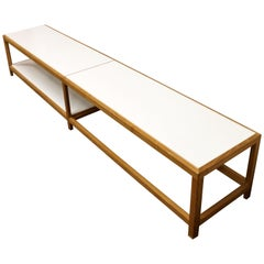 Mid-Century Modern Wormley for Dunbar Rare Coffee Table Bench Model #5402,1950s