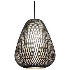 Mid-Century Modern Woven Birch Pendant Light