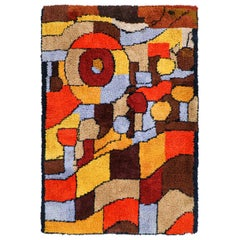 Mid-Century Modern Woven Wool Tapestry or Rug