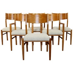 Mid-Century Modern Wright Conant Ball Set of 6 Dining Side and Armchairs, 1960s