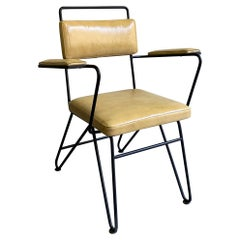 Mid-Century Modern Wrought Iron Armchair Attributed to Dan Johnson, Pacific Iron