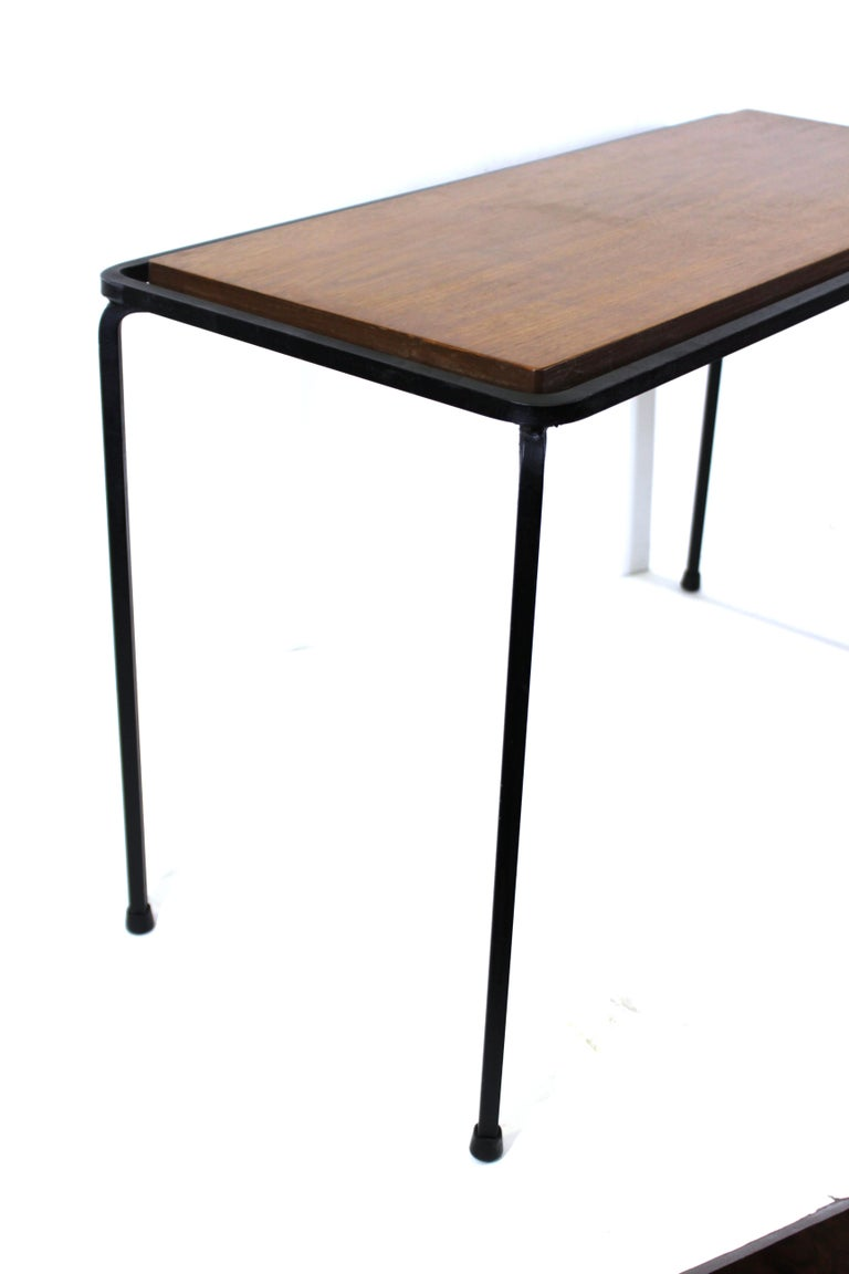 Mid-Century Modern Wrought Iron Side Table For Sale 2