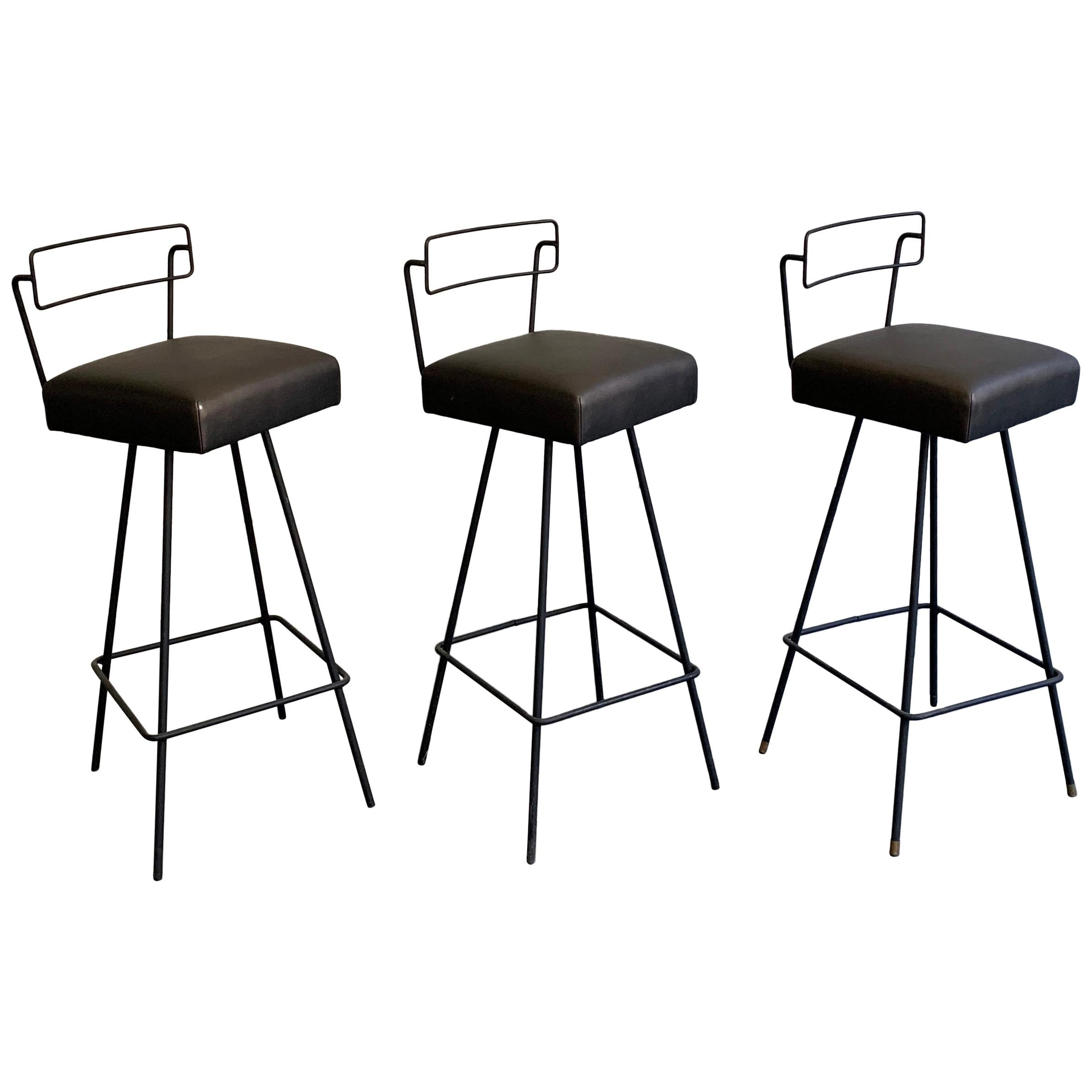 Pleasing Iron Bar Stools 168 For Sale On 1Stdibs Unemploymentrelief Wooden Chair Designs For Living Room Unemploymentrelieforg