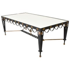 Mid-Century Modernist Dining Table Attributed to Arturo Pani Bronze and Iron