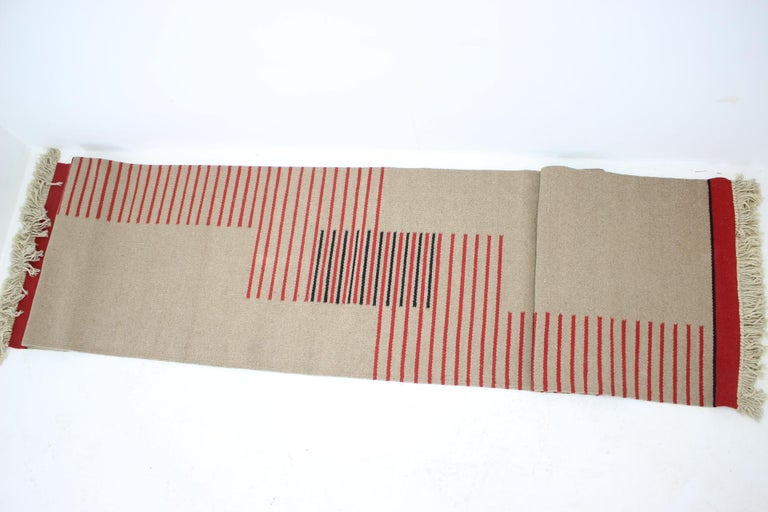 Czech Midcentury Modernist Geometric Abstract Carpet / Rug, 1960s For Sale