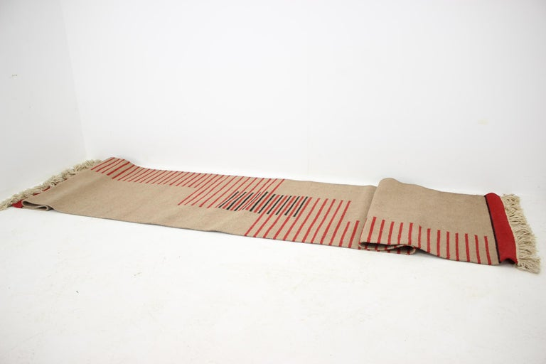 Midcentury Modernist Geometric Abstract Carpet / Rug, 1960s In Good Condition For Sale In Barcelona, ES