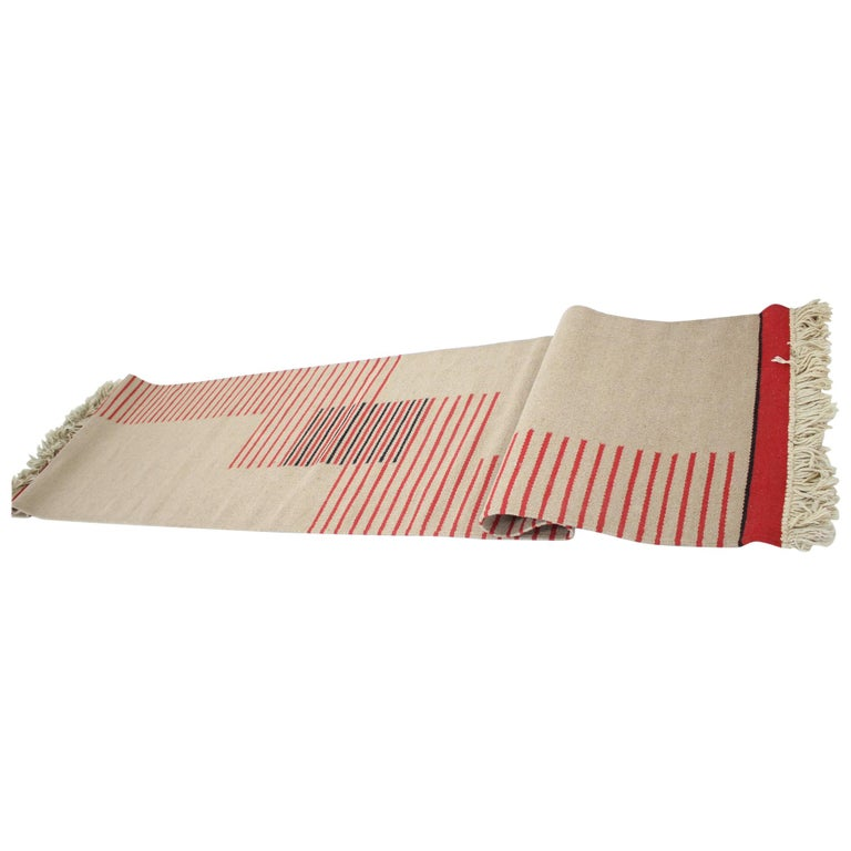 Midcentury Modernist Geometric Abstract Carpet / Rug, 1960s For Sale