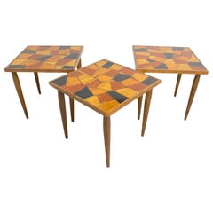 Mid-Century Modern Georges Briard Mosaic Glass Table Set