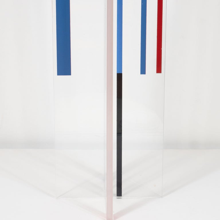 Late 20th Century Midcentury Modernist Lucite Sculpture by Ilya Bolotowsky,