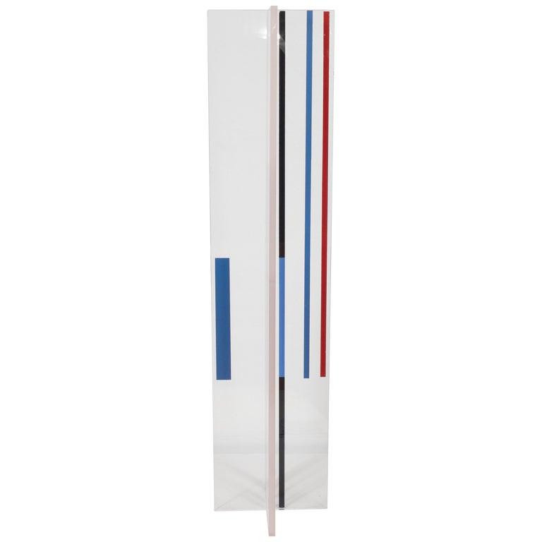 "Midcentury Modernist Lucite Sculpture by Ilya Bolotowsky, ""Plastic Column"" For Sale"