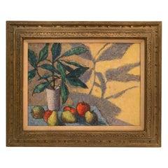 Mid-Century Modernist Oil on Canvas Still Life
