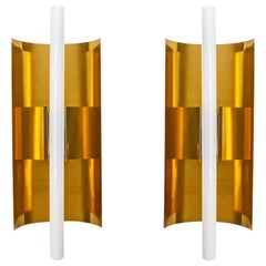 Mid-Century Modernist Pair of Sconces Italian Design by Gio Ponti for Candle