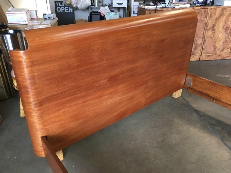 American Midcentury Molded Plywood Bed Frame For Sale