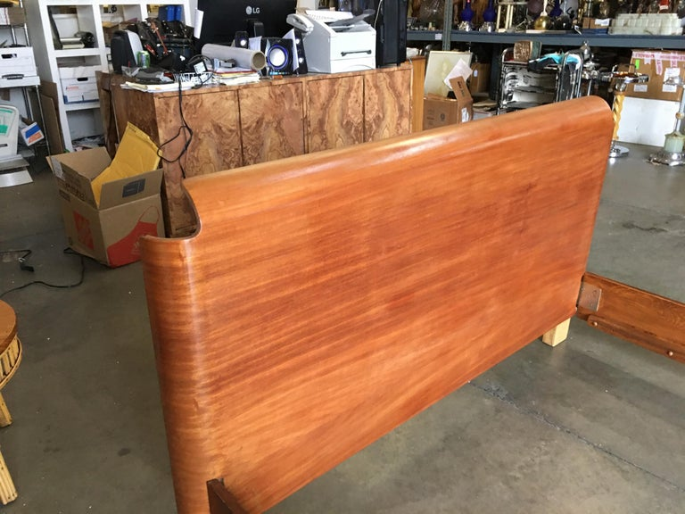 Mid-20th Century Midcentury Molded Plywood Bed Frame For Sale