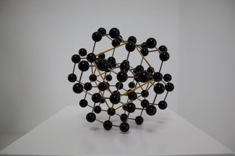 Mid-Century Modern Mid-Century Molecular Structure from Prague in Black and Yellow For Sale