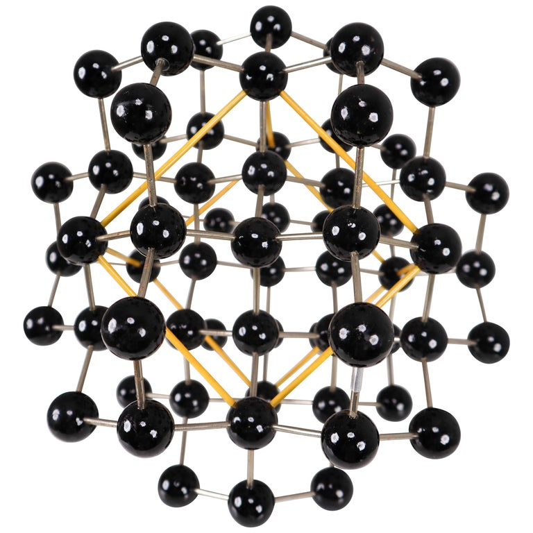Mid-Century Molecular Structure from Prague in Black and Yellow For Sale