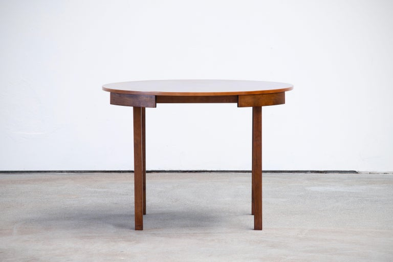 Danish Mid-Century Mordern Built in Table and Chairs Set For Sale