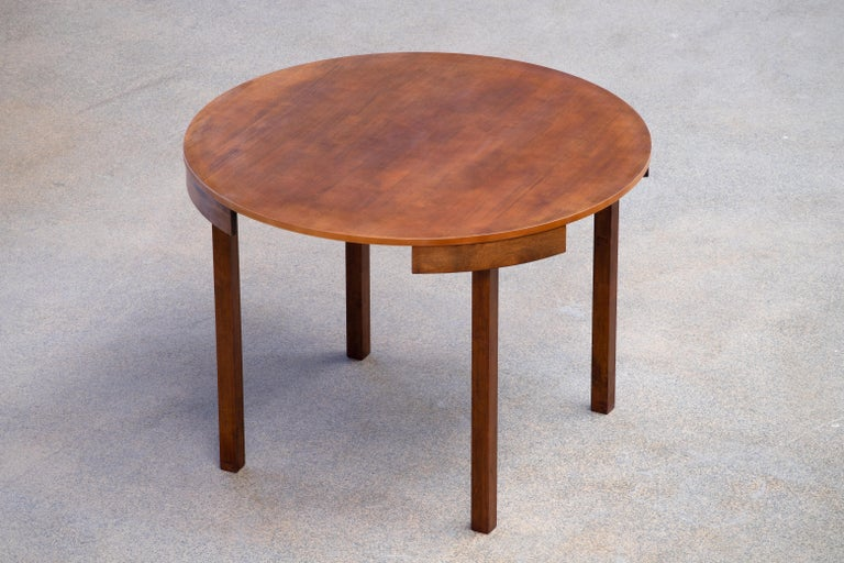Mid-Century Mordern Built in Table and Chairs Set For Sale 1