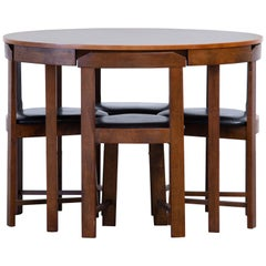 Mid-Century Mordern Built in Table and Chairs Set
