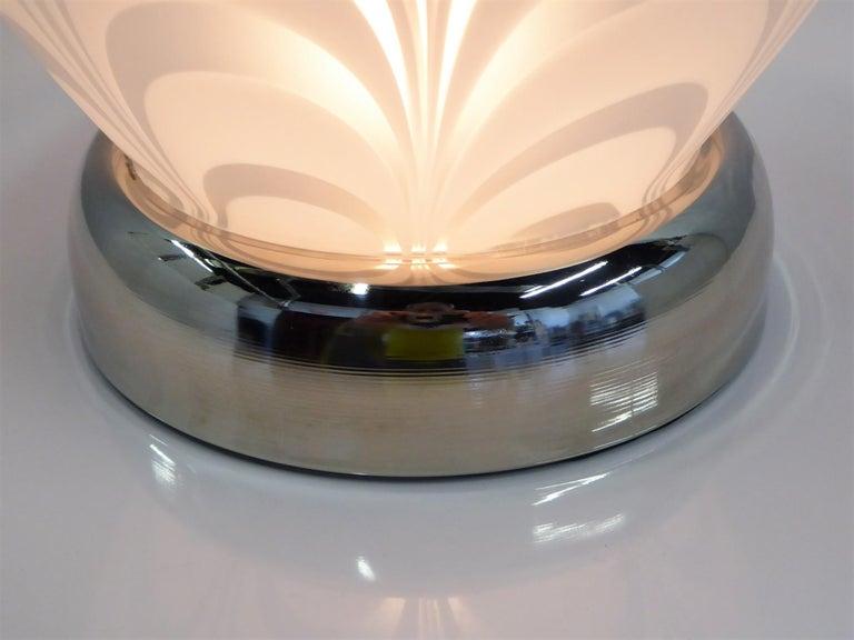 Midcentury Murano Art Glass Lamp with Inner Light For Sale 4