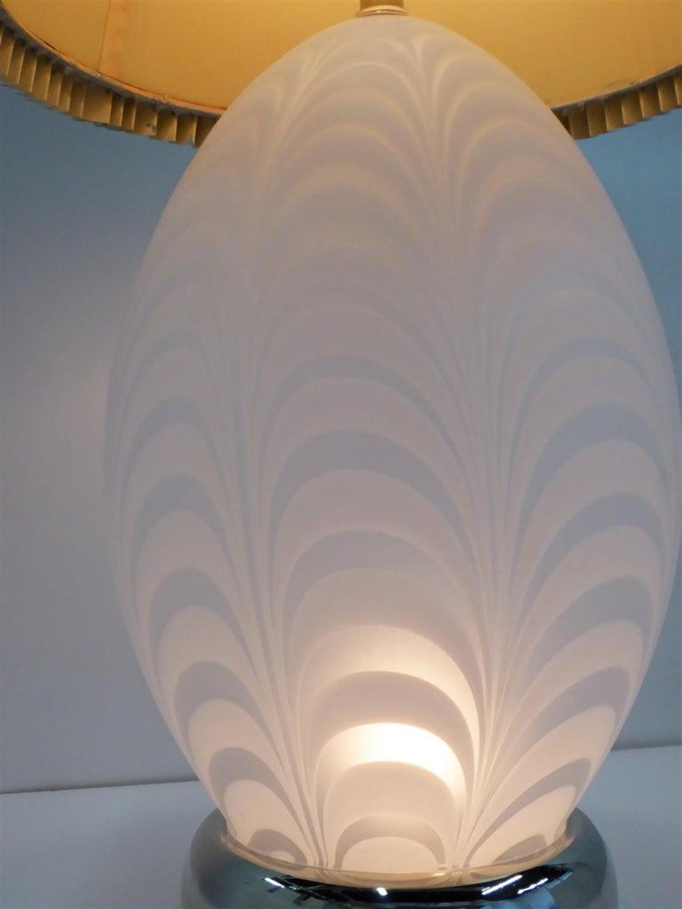 Midcentury Murano Art Glass Lamp with Inner Light For Sale 6