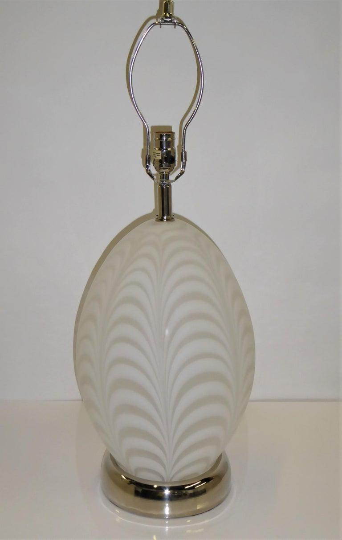 Midcentury Murano Art Glass Lamp with Inner Light For Sale 9