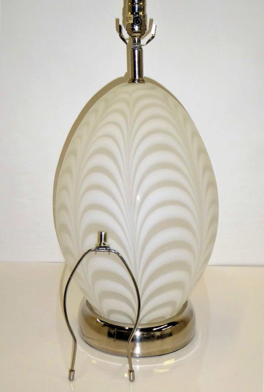 Midcentury Murano Art Glass Lamp with Inner Light For Sale 10