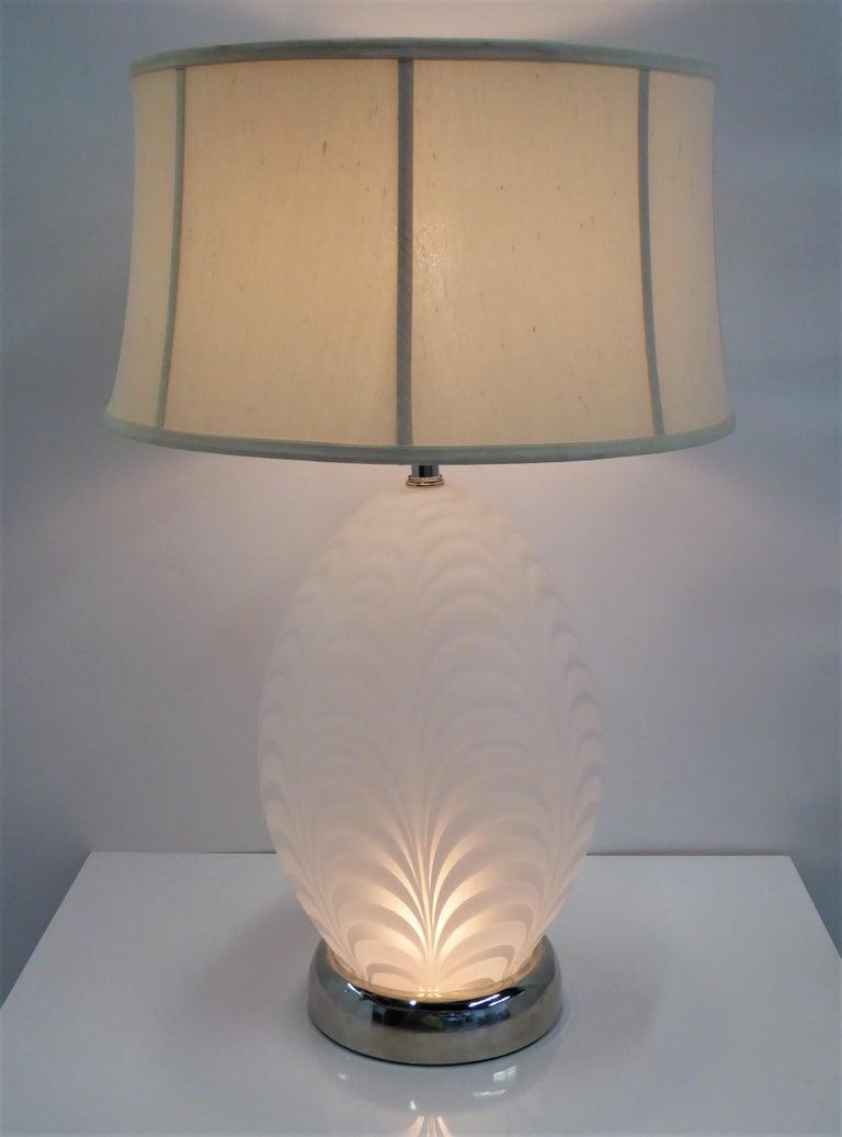 Mid-Century Modern Midcentury Murano Art Glass Lamp with Inner Light For Sale