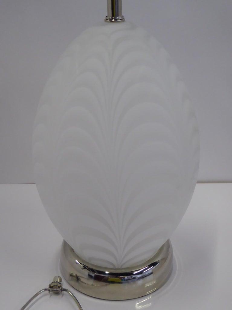Murano Glass Midcentury Murano Art Glass Lamp with Inner Light For Sale
